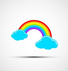 Icons of clouds and rainbows vector