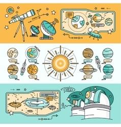 Concept Scientific Cosmos Flat Style vector image