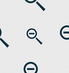 Magnifier glass zoom tool icon sign seamless vector