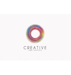 Creative logo Colorful logo geometric icon vector image
