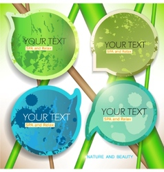 Bubbles for speech natural green background vector