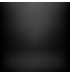 Black studio background vector