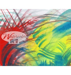 Abstract colorful watercolor vector