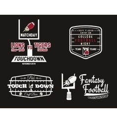 American football field and goal team badge sport vector image