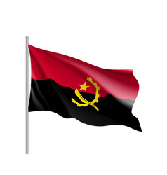 angola realistic flag vector image vector image