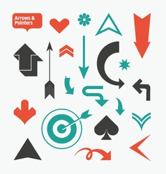 Arrows and pointers vector image vector image