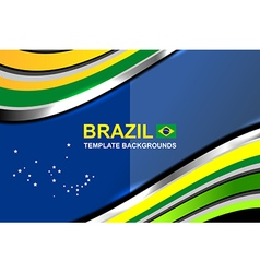 Brazil color abstract backgrounds vector