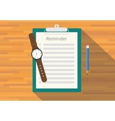 Checklist clipboard reminder vector