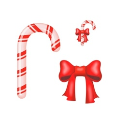 Christmas Candy Cane isolated on a white vector image vector image