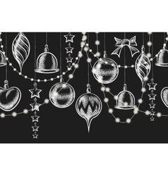 Christmas chalkboard ornament vector