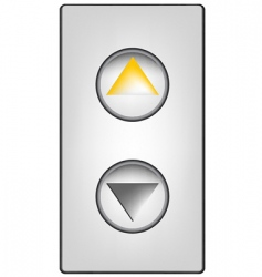 elevator buttons vector image vector image