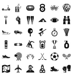 Extreme sport icons set simple style vector