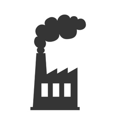Factory industry pollution icon vector