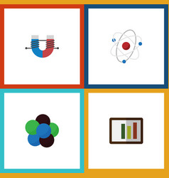 flat icon knowledge set of attractive force vector image vector image