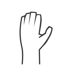 Gesture with fingers icon Hand design vector image vector image
