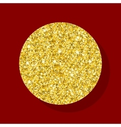 golden figure circle vector image vector image
