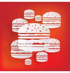 Hambrger web icon vector image vector image