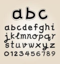 Hand writing type vector