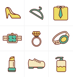 Icons Style Fashion Icons Set Design vector image vector image