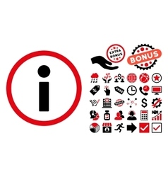 Info flat icon with bonus vector