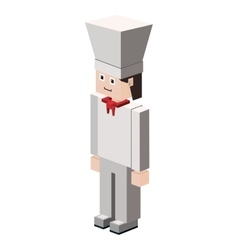 Lego silhouette with chef icon vector