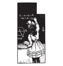 Math problems or chalkboard vintage engraving vector