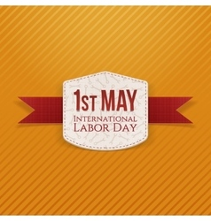 May 1st labor day paper banner vector