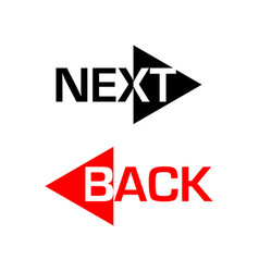 next and back icons vector image