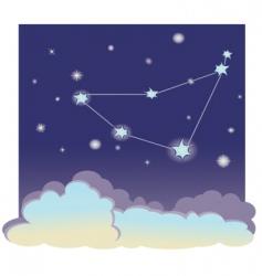 night sky scene vector image vector image