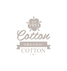 Organic cotton product logo design vector