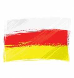 Ossetia flag vector image vector image