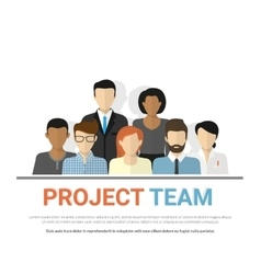 Project team avatars vector image vector image
