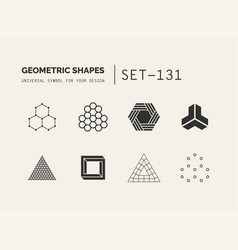 set of universal minimal geometric vector image