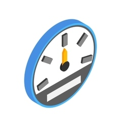 Speedometer or gauge icon isometric 3d style vector image vector image