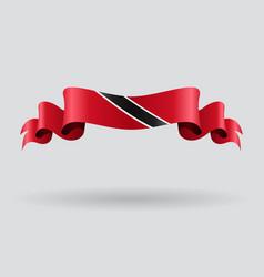Trinidad and Tobago wavy flag vector image