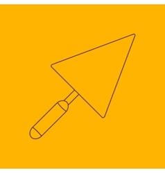 Trowel line icon vector