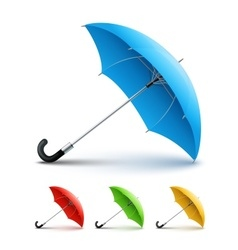 Umbrellas color set vector image vector image