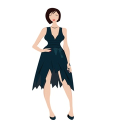woman in evening dress vector image vector image