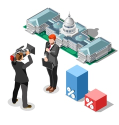 Election news infographic congress isometric vector