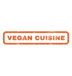 Vegan cuisine rubber stamp vector