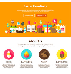 Web design easter greeting vector