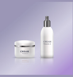 Cosmetic creams in glossy plastic tubes vector