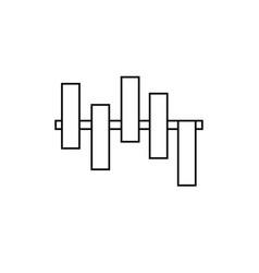 Bar chart icon vector