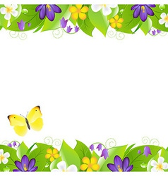 Summer flowers borders vector