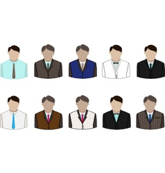 set of suit vector image