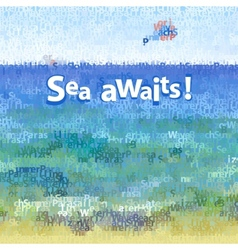 background seascape vector image