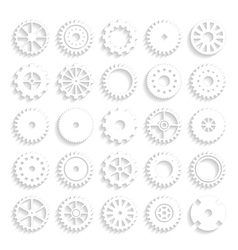 set of gear wheels isolated on a background vector image