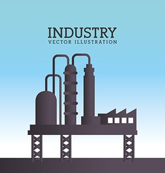 Industry design over blue background vector