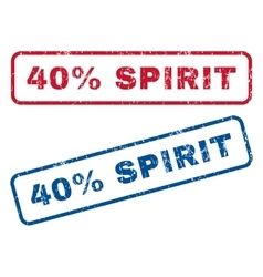 40 percent spirit rubber stamps vector