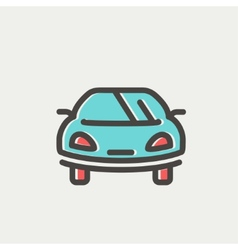 Sports car thin line icon vector